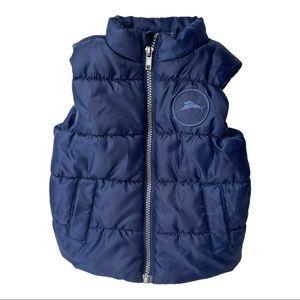 Tommy Bahama Kid's Blue Zip Up Puffer Vest 18M